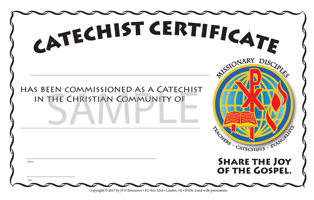 Catechist Certificate Of Commissioning
