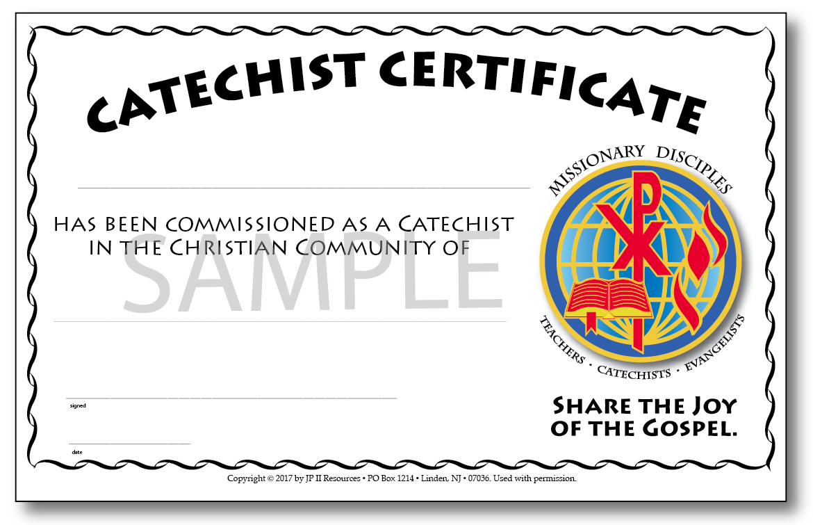 Catechist sunday journal missionary disciples catechist certificate 1betcityfo Gallery