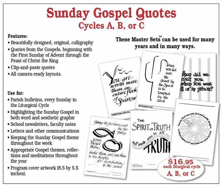 Sunday Gospel Quotes